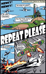 Repeat Please Cartoon based on Battle of Britain movie