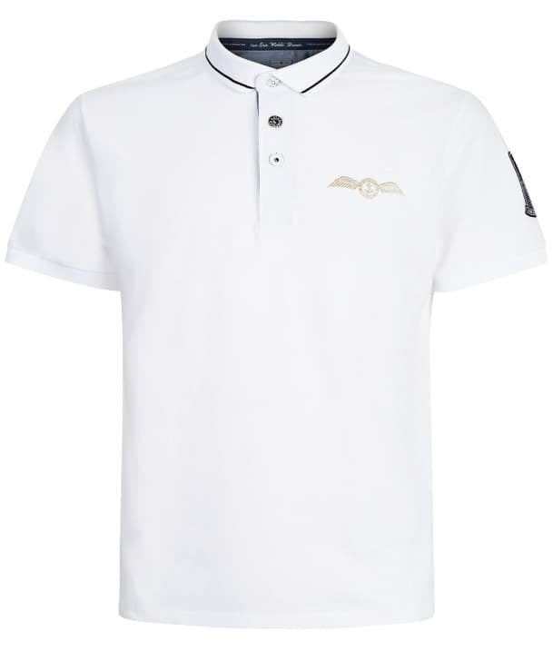 Eric Winkle Brown Polo Shirt in white Front