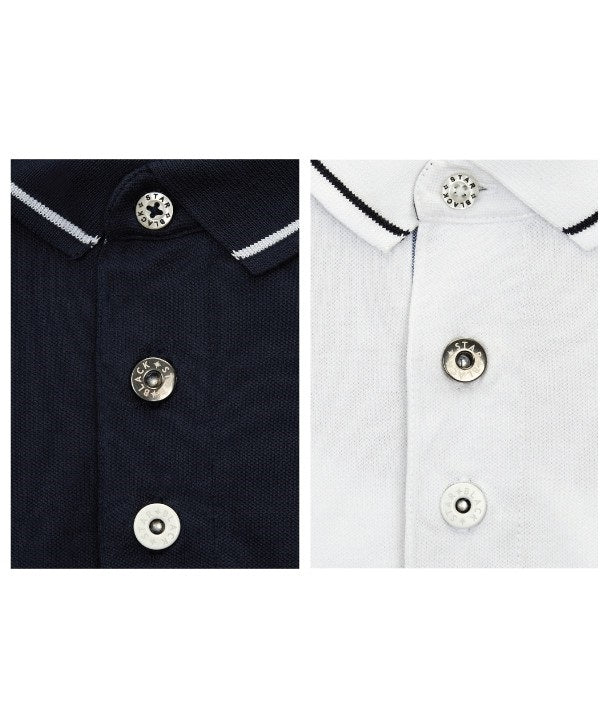 Eric Winkle Brown Polo Shirt Placket detail