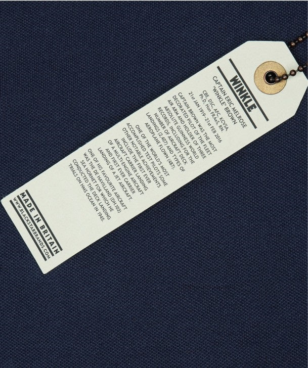 Eric WInkle Brown Polo Shirt Swing Tag Back