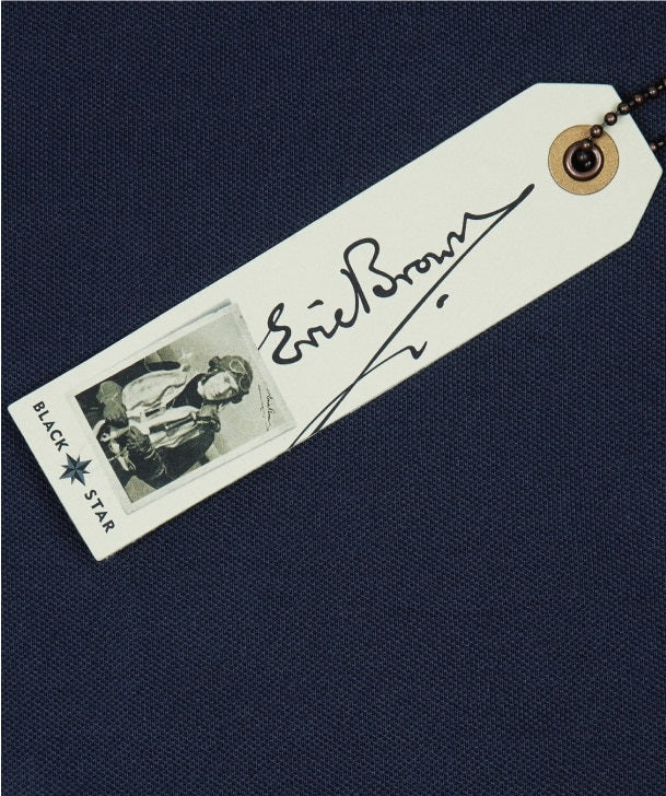 Eric WInkle Brown Polo Shirt Swing Tag Front