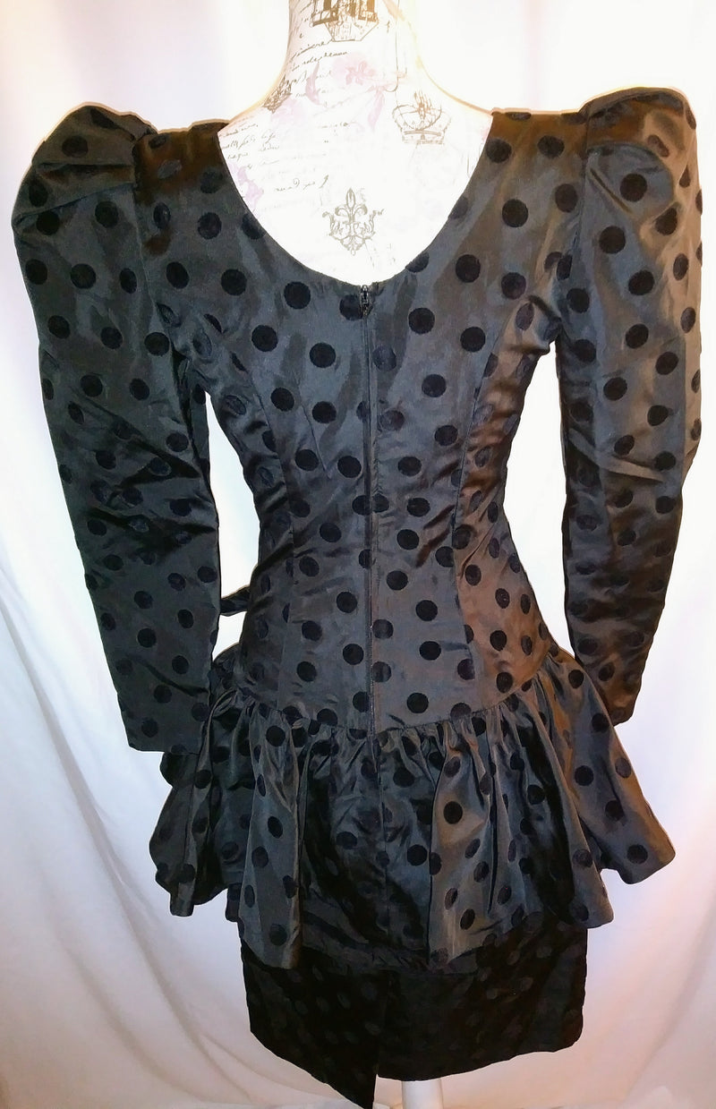 Leslie Lucks black polyester dress sz 4
