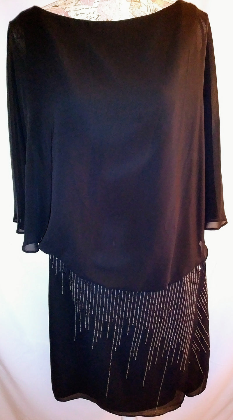 Sanchez black dress sz 14