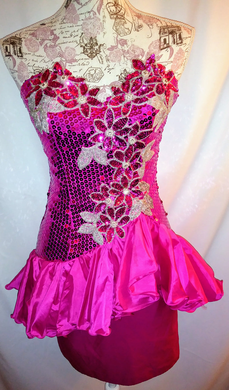 Alyce Designs hot pink dress sz 6