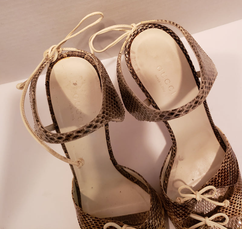 Gucci Snakeskin Sandals Size 8B