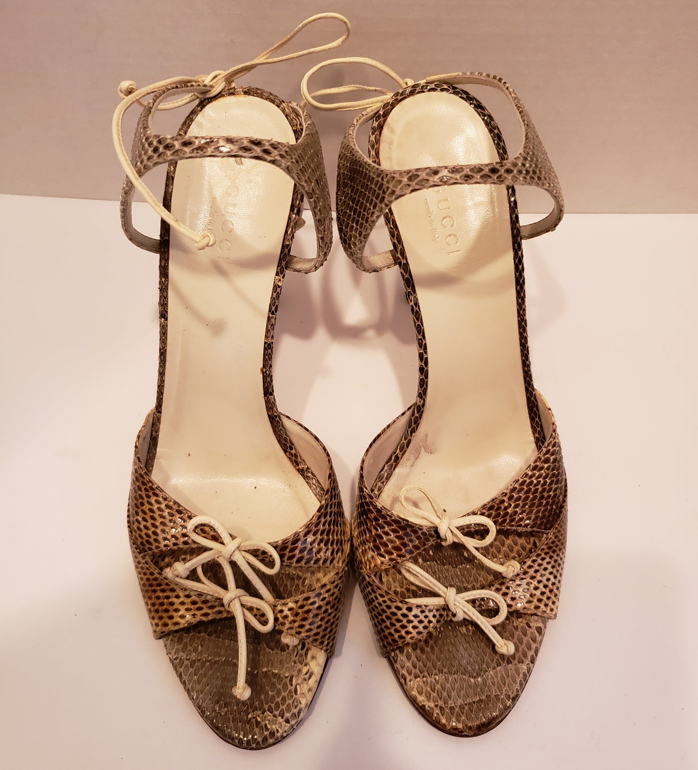 f3485613406 Gucci Snakeskin Sandals Size 8B – Shop The Thrifty Fashionista