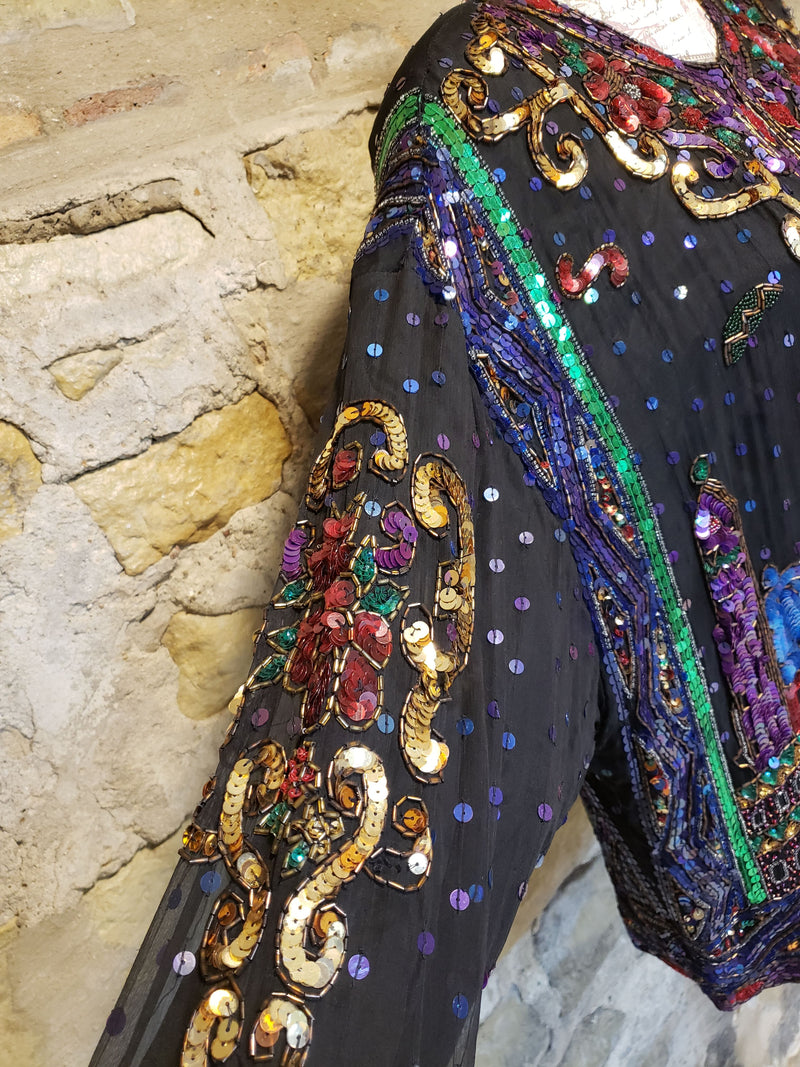Together Vintage Sequin Jacket Size M