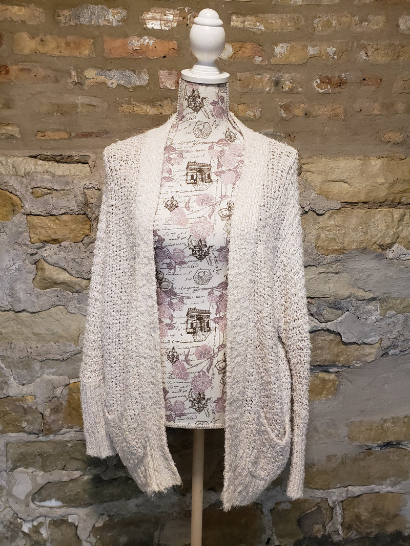 Free People Cream Cardigan Size Medium