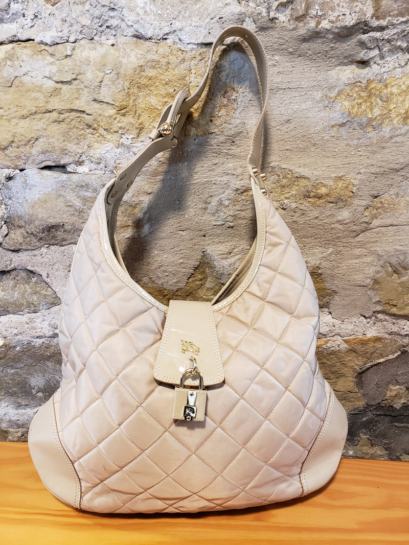 Burberry Cream Quilted Purse