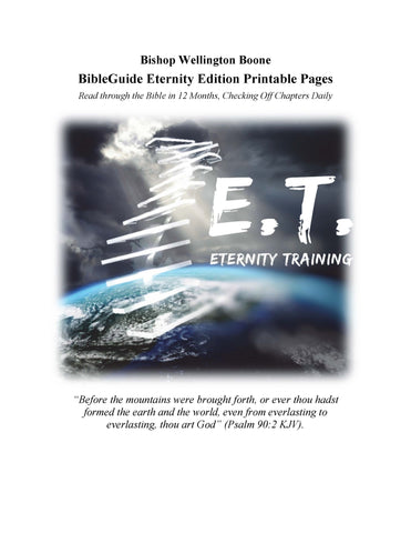 BibleGuide Eternity Edition Printable Pages