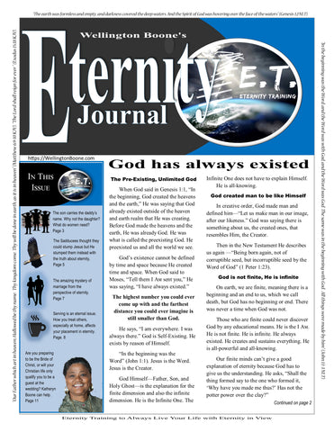 Eternity Journal