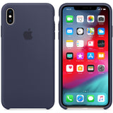 Official Apple Silicone Rear Case Cover for iPhone XS Max - Midnight Blue (bulk packaged)