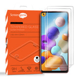 2x Screen Genie CF-PRO Case Friendly Tempered Glass Screen Protector for Samsung Galaxy A21