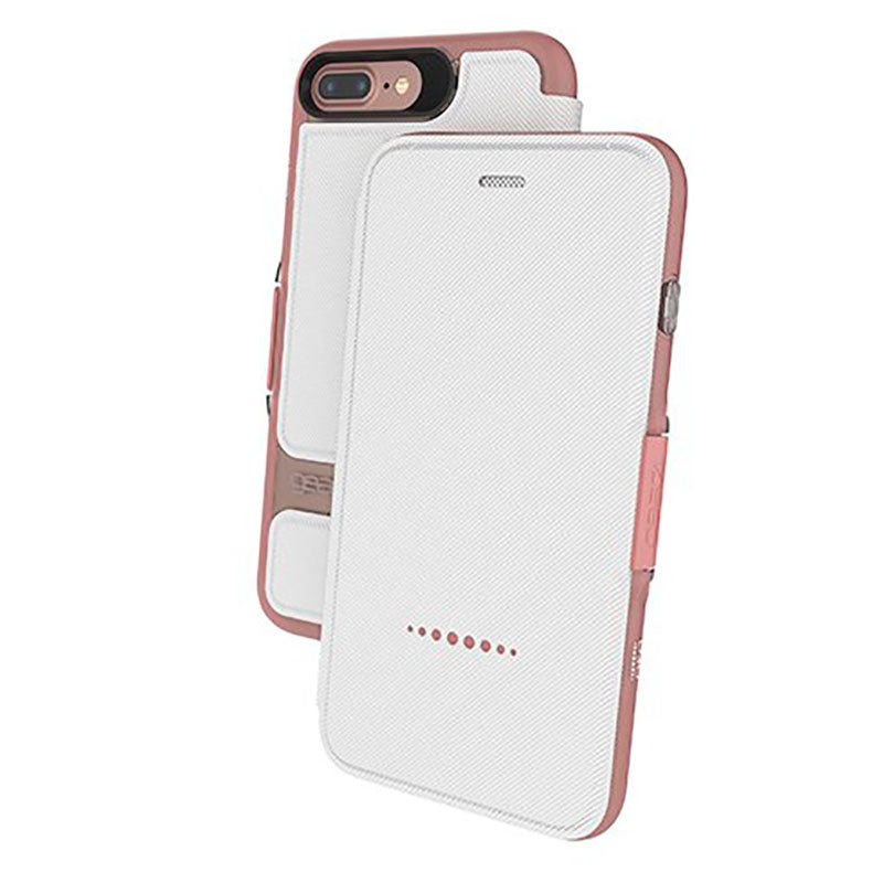 Gear4 Oxford D30 Shockproof Flip Case for Apple iPhone 7 Plus / 8 Plus - Rose Gold