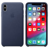 Official Apple Genuine Leather Rear Case Cover for iPhone XS Max Leather Case - Midnight Blue