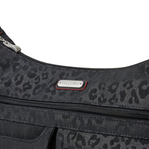 Baggallini Anywhere Large Hobo Tote - Black Cheetah