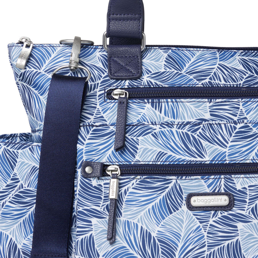 3-in-1 Convertible Backpack with RFID Phone Wristlet - Maui Print