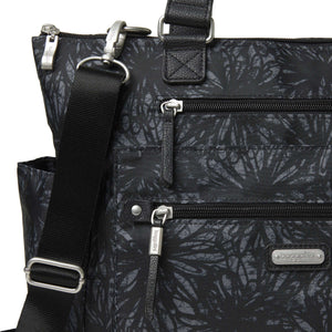 3-in-1 Convertible Backpack with RFID Phone Wristlet - Onyx Floral