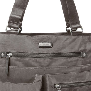 Baggallini Any Day Tote with Wristlet - Sterling Shimmer