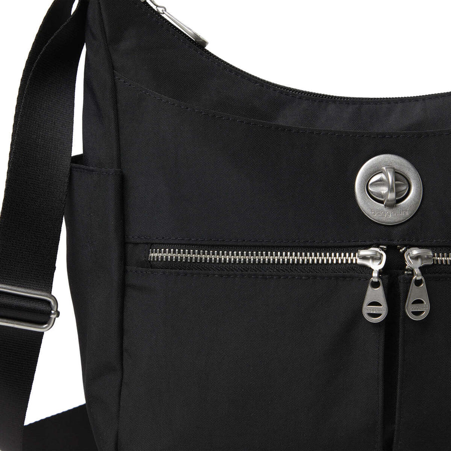Baggallini Bristol RFID Crossbody Hobo Bag - Black