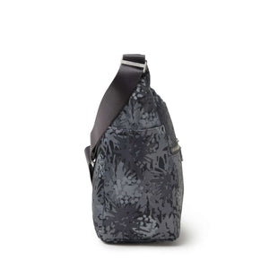 Baggallini Bristol RFID Crossbody Hobo Bag - Pewter Thistle