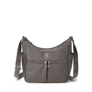 Baggallini Bristol RFID Crossbody Hobo Bag - Sterling Shimmer
