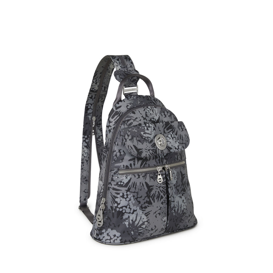 Baggallini Naples Convertible Backpack - Pewter Thistle