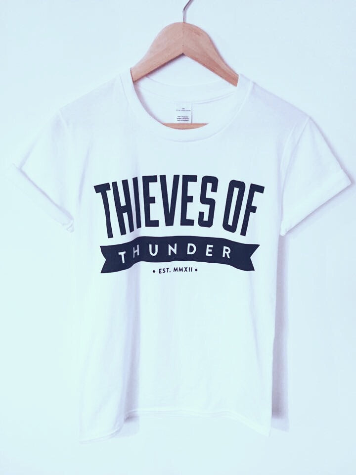Thieves Of Thunder White Unisex T-Shirt