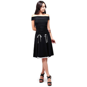 Evanese Women's Off Shoulder A Line Knee Length Cocktail Dress - ellemore.com