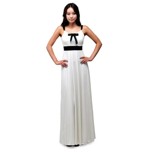 Evanese Women's cute ribbon long dress with adjustable bust covers - ellemore.com