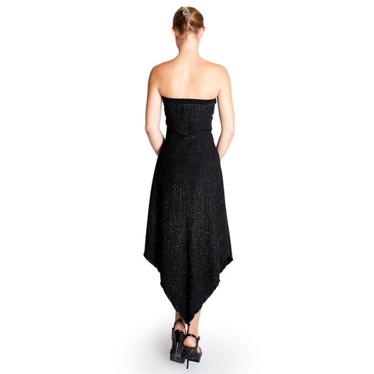 Evanese Women's Uneven Inset Glitter Tube Dress - ellemore.com