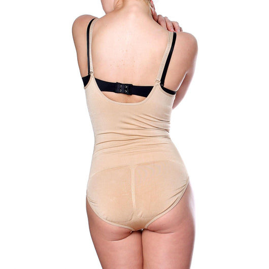 Prima Valentina Womens Stretch Black Tan Seamless Body Briefer Shaper Shapewear - ellemore.com