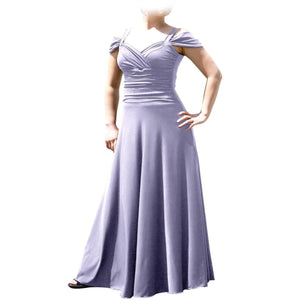 Evanese Women's Plus Size Elegant Long Formal Evening Dress with Shoulder bands - ellemore.com