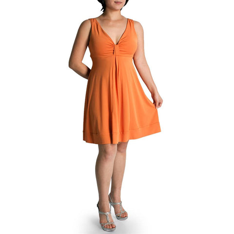 Evanese Women's Plus Size Short Deep V Neck Casual Day Cocktail Mini Dress - ellemore.com
