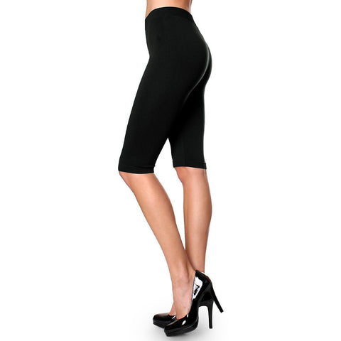 Lady Tight Skinny One Size Knee Length Leggings Stretch Sexy Pencil Pants - ellemore.com