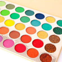 Alice+Jane 35 Color High Pigment Eyeshadow Palette with Glitter and Cream Citrus Oasis