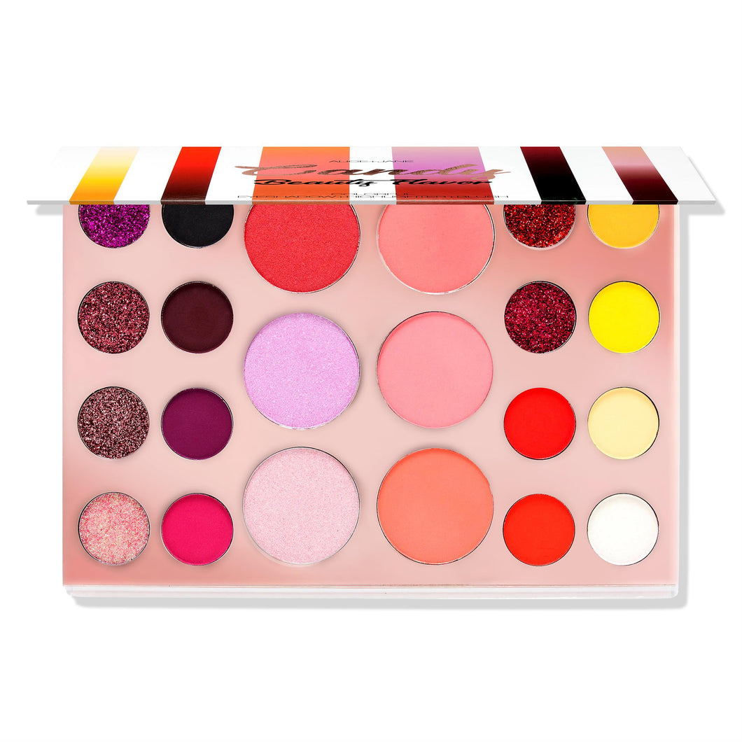 Alice+Jane Colorful Eyeshadow+Highlighter+Blusher Palette Candy Beauty Flavor
