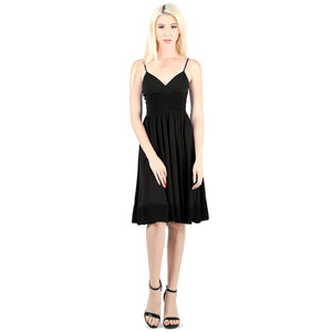 Evanese Women's Sleeveless Empire Waist Fit and Flare A-Line Cocktail Dress L, Orchid/Black