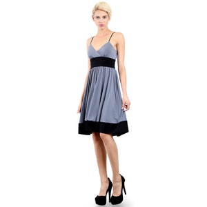 Evanese Women's Fashion Color Blocking Jersey Casual Cocktail Party Dress XL, Black/Creme