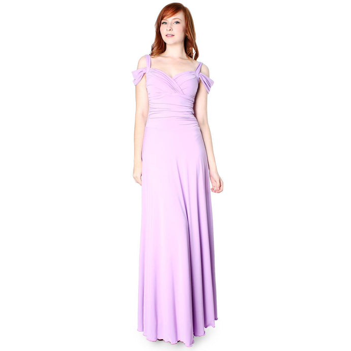 Evanese Women's Elegant Slip On Long Formal Evening Dress with Shoulder bands - ellemore.com