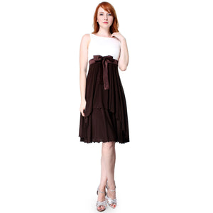 Evanese Women's Cute Sleeveless Fit and Flare Pleated Knee Length Cocktail Dress - ellemore.com