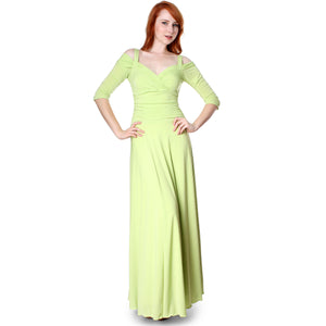 Evanese Women's Elegant Formal Long Evening Dress with 3/4 Sleeves Ball Gown - ellemore.com