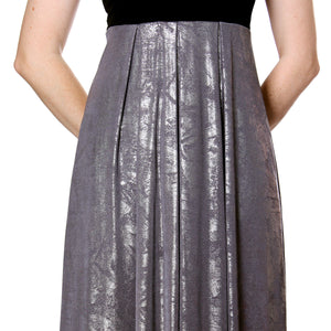 Evanese Women's Elegant Cocktail Strapless Tube Metallic Print Maxi Long Dress - ellemore.com