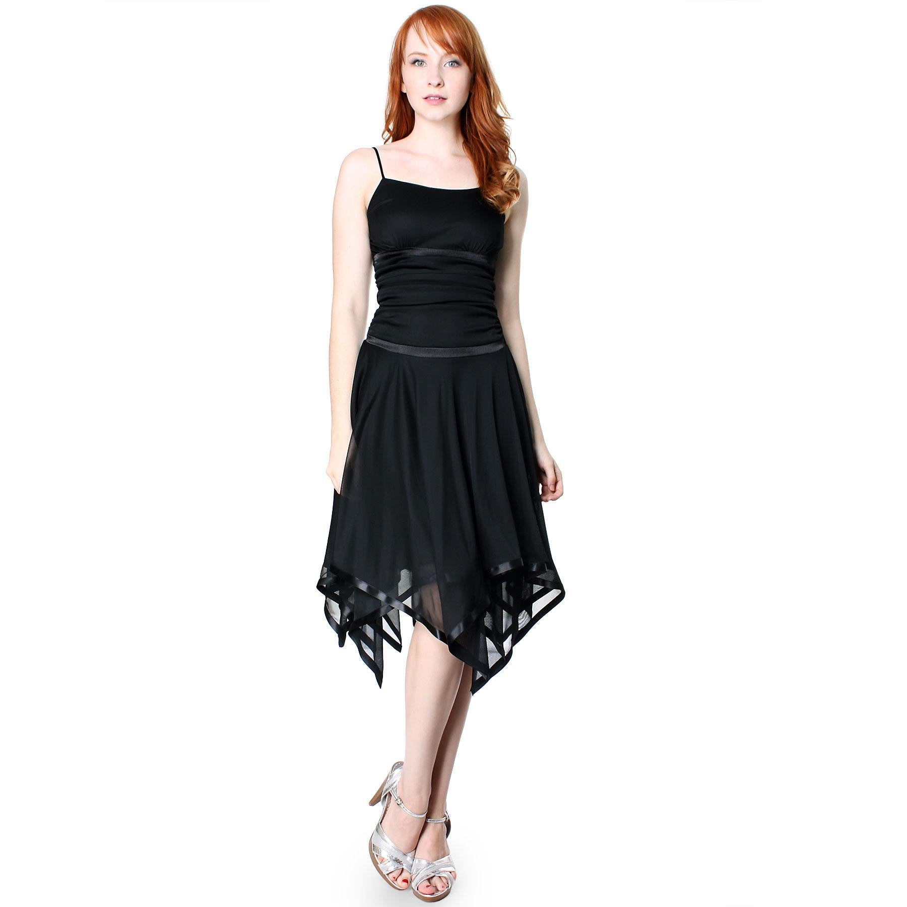 Evanese Womens Romantic Polyester Sheer A Line Cocktail Dress with ...