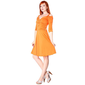Evanese Women's Elegant Slip On Short Elegant Cocktail Dress with 3/4 Sleeves - ellemore.com