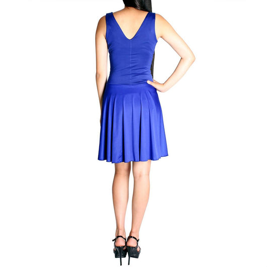 Evanese Women's Shiny Venezian Slip On Mini Cocktail Dress - ellemore.com