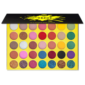 Makeup Freak X 35 Color Pigmented Eyeshadow Palette with Glitter Holiday