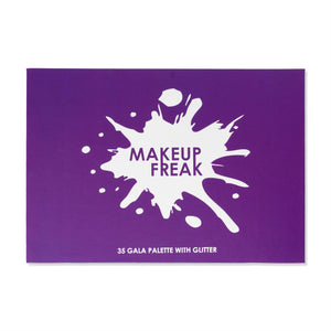Makeup Freak Gala 35 Color Pigmented Eyeshadow Palette with Glitter Winter