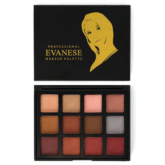 Evanese Professional Beauty Makeup 12 Color High Pigment Eyeshadow Palettes Set