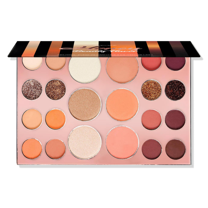 Alice+Jane Neutral Eyeshadow+Highlighter+Blusher Palette Honey Beauty Flavor
